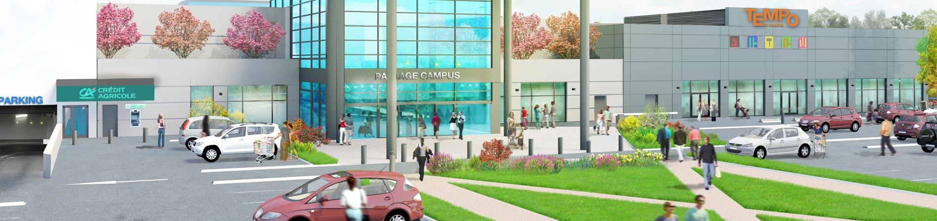 Tempo le Centre - Centre commercial E.leclerc à Pau - Entrée