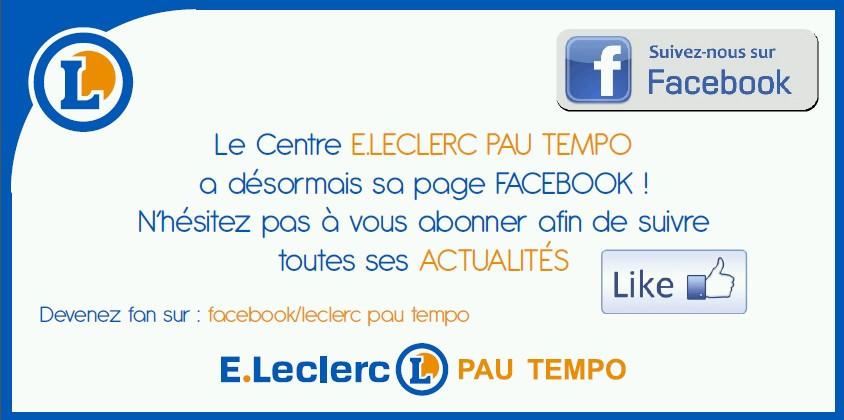 FACEBOOK LECLERC PAU TEMPO
