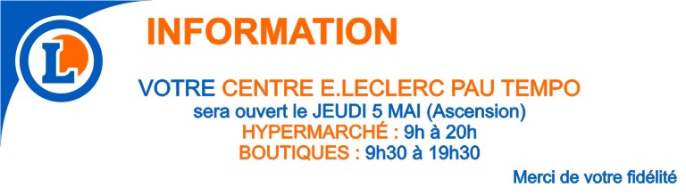 newsletter information ouverture 5 MAI