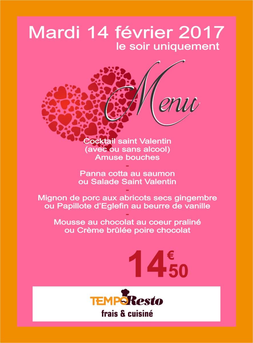 Newsletter - cafeteria saint valentin.