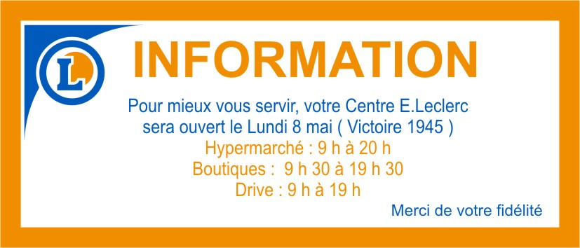newsletter ouverture 8 mai.