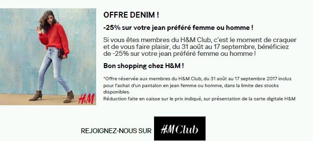 H&M DENIM RENTREE