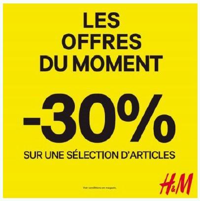 H&M OFFRE DU MOMENT VISUEL