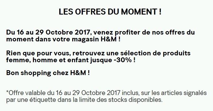 H&M OFFRES DU MOMENT TEXTE